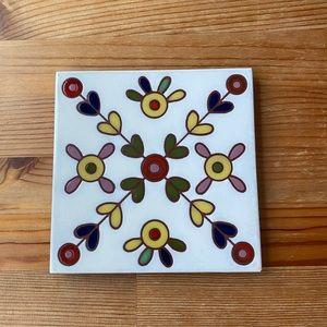 Vintage Ceramic Art Tile/Trivet